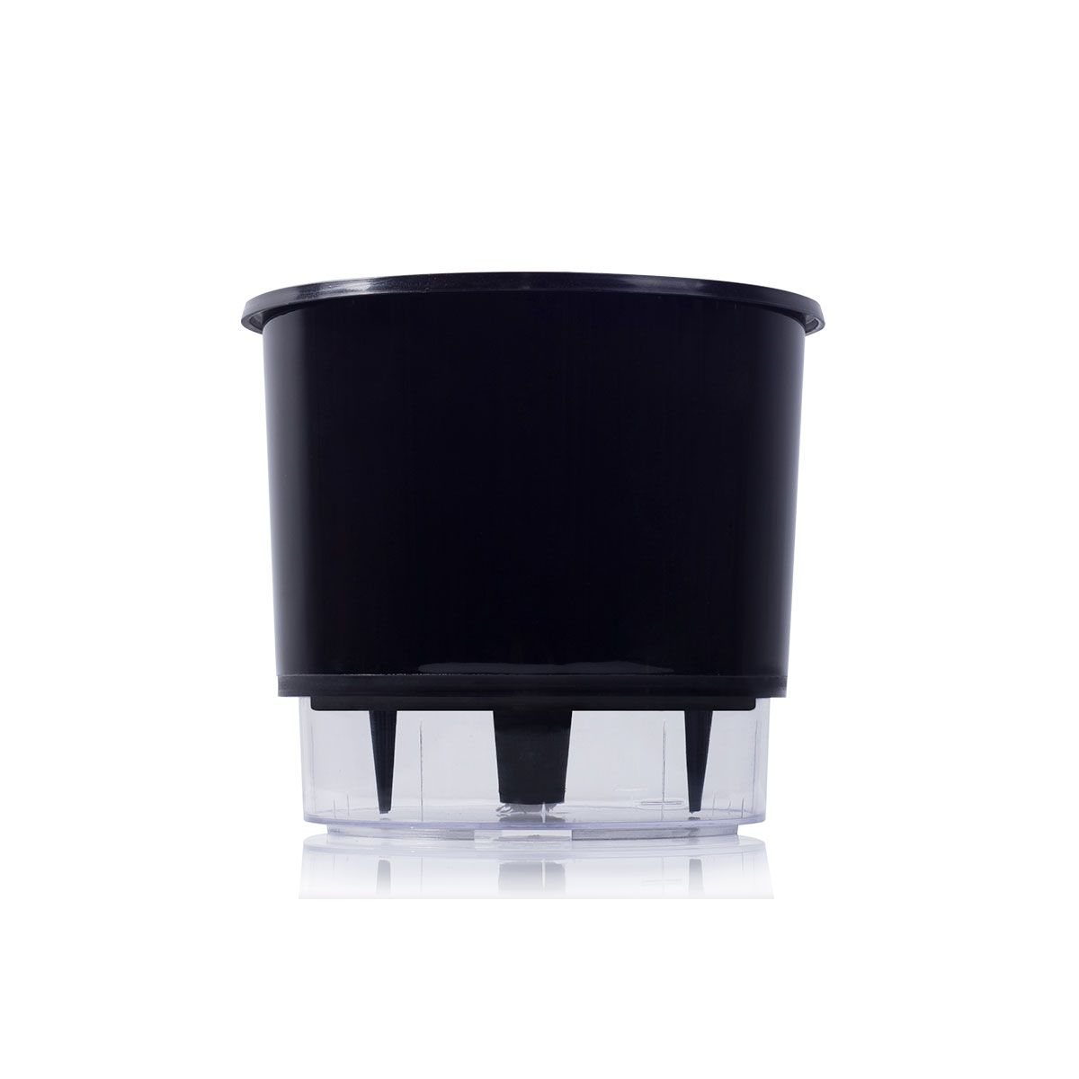 Vaso Autoirrigável Preto Pequeno 12,6 cm x 11,4 cm N02  - Vasos Raiz Loja Oficial