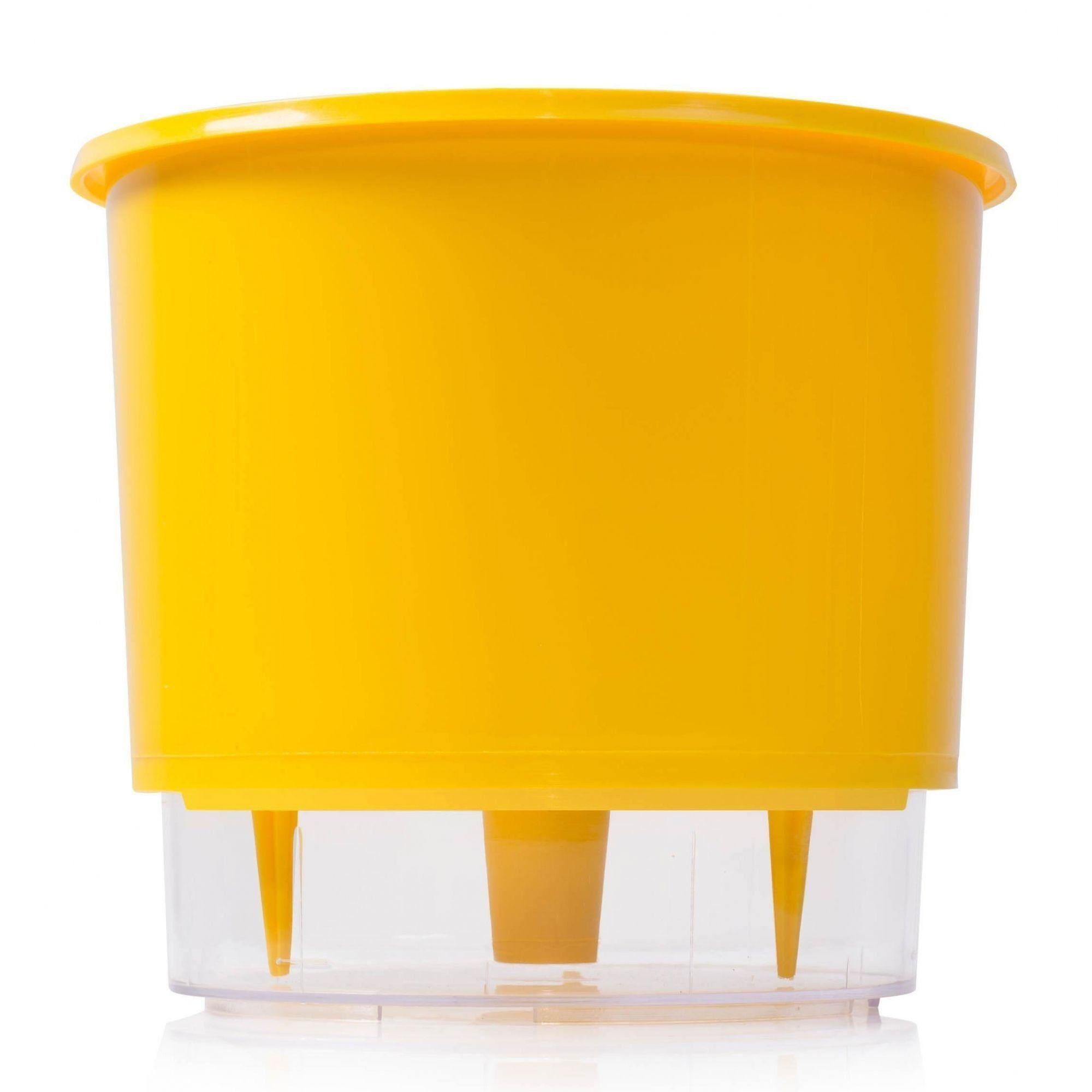 Vaso Autoirrigável Pequeno 12cm x 11cm Amarelo