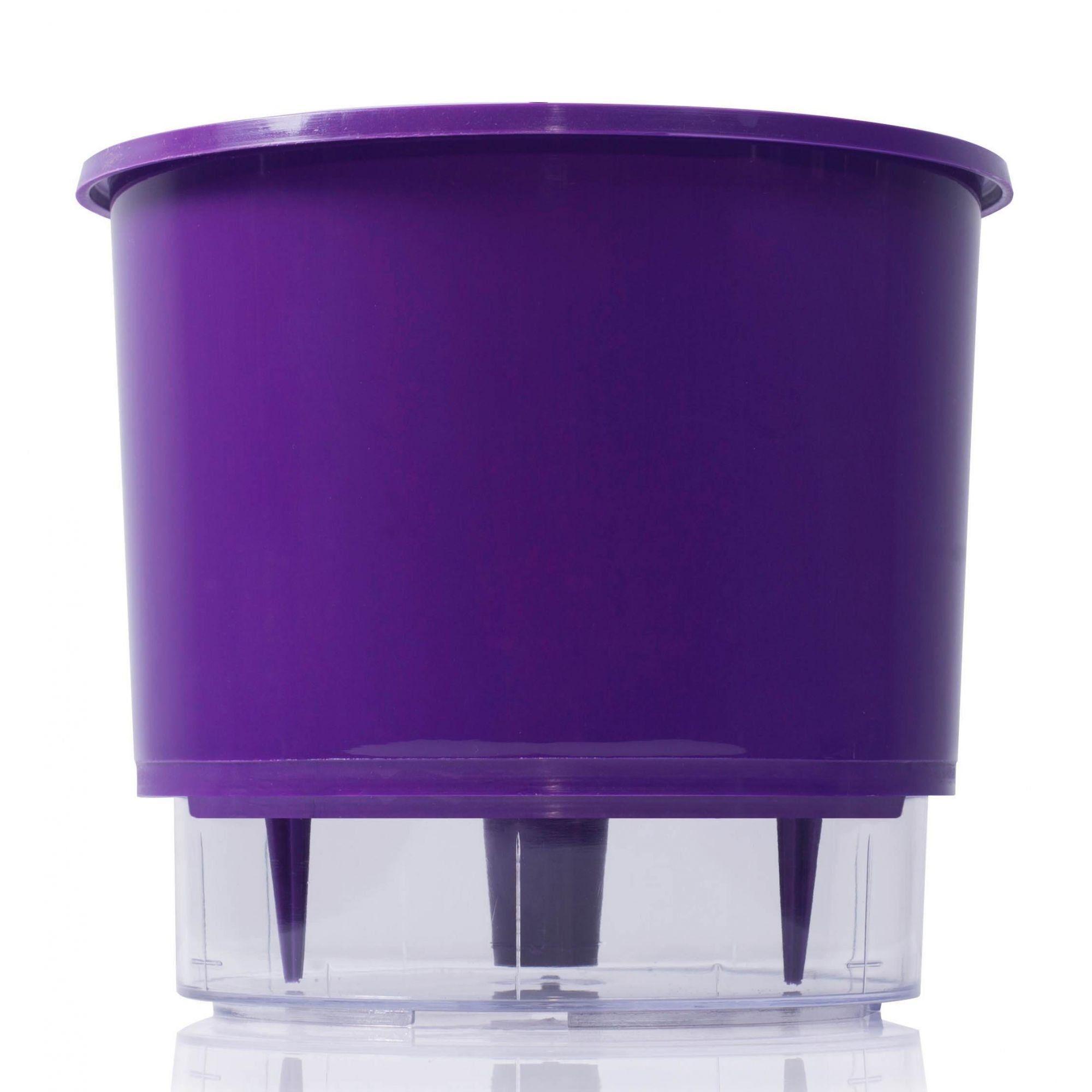 Vaso Autoirrigável Pequeno 12cm x 11cm Roxo N02  - Vasos Raiz Loja Oficial