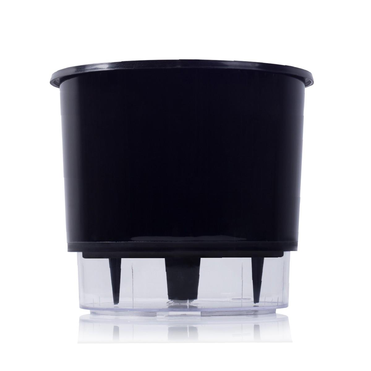 Vaso Autoirrigável Preto Grande 21,5cm x 19cm - N04  - Vasos Raiz Loja Oficial