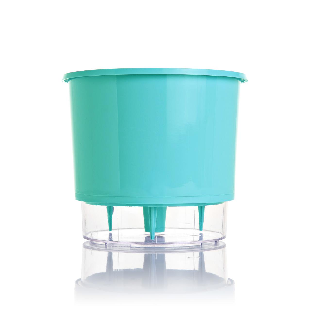 Vaso Autoirrigável Verde Raiz Pequeno 12cm x 11cm N02  - Loja Raiz