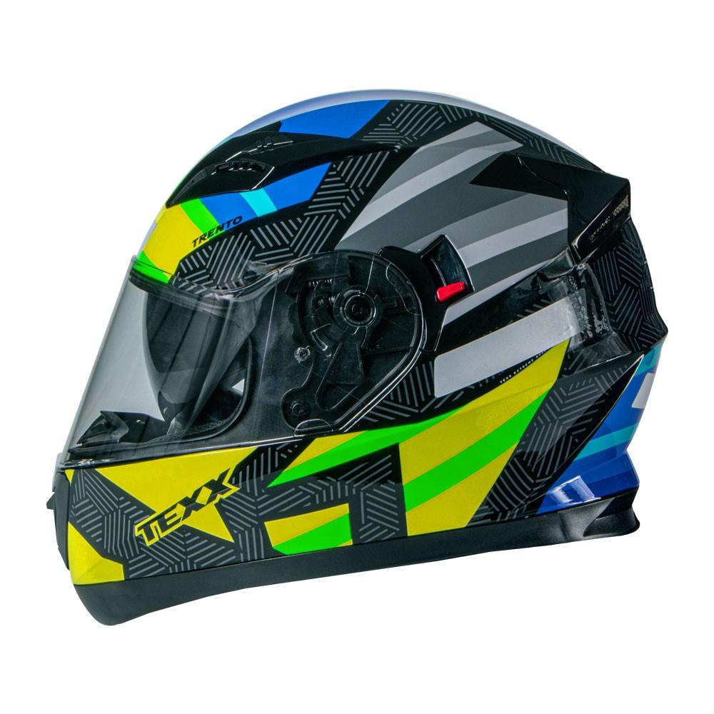 Capacete Texx G2 Trento Amarelo/Verde 56