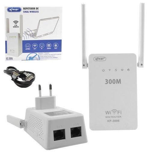 Repetidor de Sinal Wirelles duas antenas 300 Mbps Kp-3006 Knup