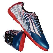 76cc43cb43 Chuteira Penalty Storm VIII Futsal Azul Metalizado