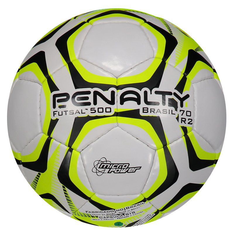 Bola Penalty Brasil 70 500 R2 IX Futsal Amarelo - FutFanatics 80570365d7c8a