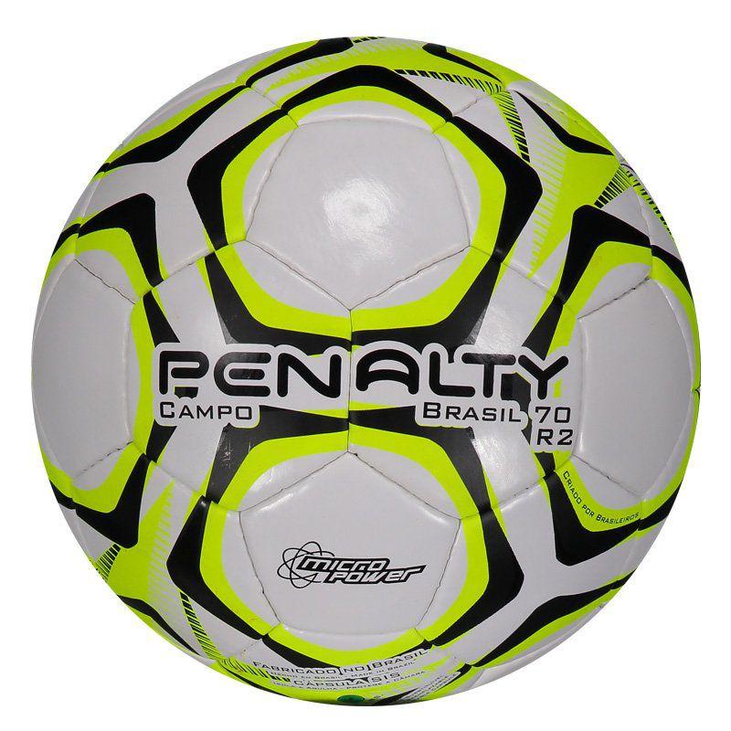 Bola de Campo Penalty Brasil 70 N4 R2 IX Original produzida para o futebol  de gramado - Penalty 1030c679d471e
