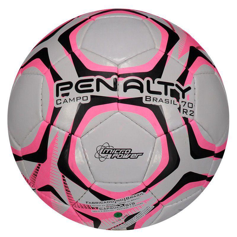 6509674e5 Bola Penalty Brasil 70 R2 IX Campo Branca e Rosa - Penalty