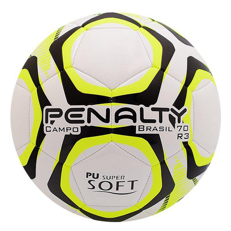 Bola Penalty Brasil 70 R3 IX Campo Branca e Amarela - Penalty aafbb2cacdf00