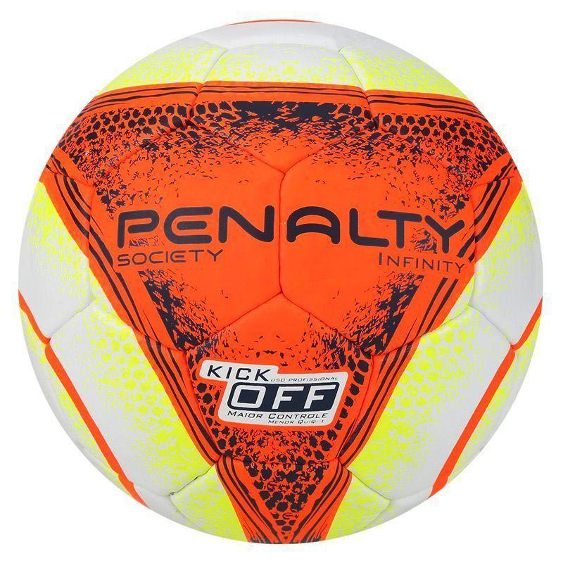 1acfc9b498 Bola Penalty Infinity VIII Society Branca e Laranja - Penalty