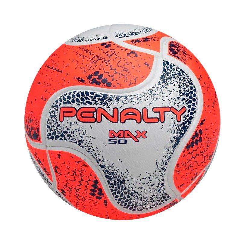 Bola Penalty Max 50 CBFS VIII Futsal Laranja e Branca - Penalty ff11d9208c728