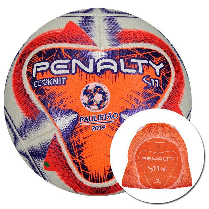 Bola Penalty S11 Ecoknit FPF IX Futebol de Campo Lançamento e Reciclável-  FutFanatics c51fbd410726f