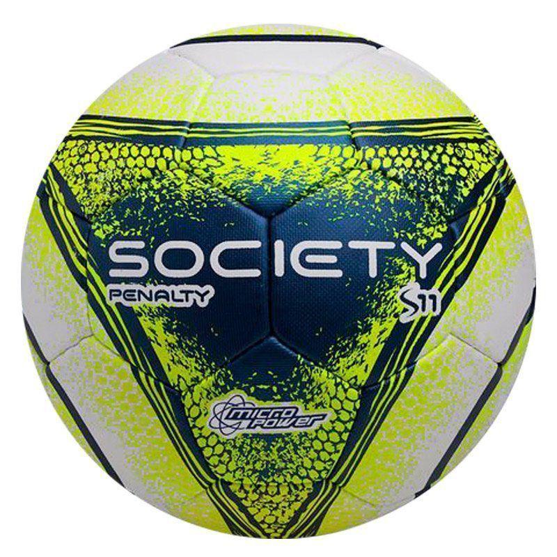 db33280d66d5e Bola Penalty S11 R4 VIII Society Branca e Amarela - Penalty