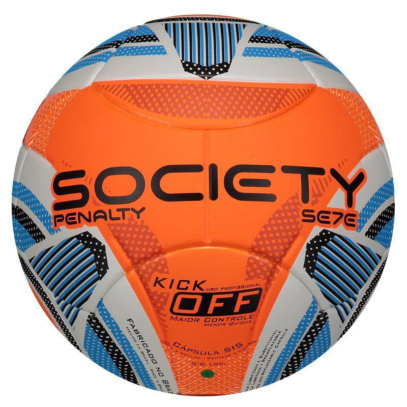 Bola de Society Penalty Se7e R3 KO IX Original e Produzida para Grama  Sintética - Penalty 8e7ae3e809761