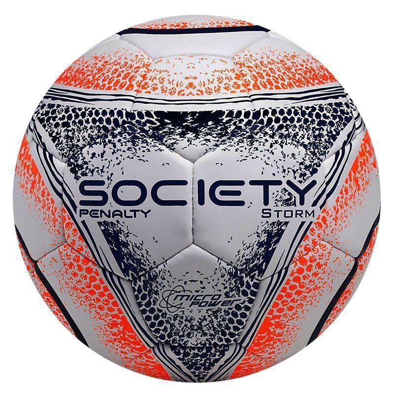 1195591737 Bola Penalty Storm VIII Society Branca e Azul - Penalty