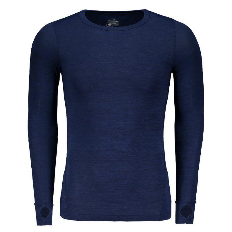 Camisa De Compressão Penalty Max Flex UV 50 Manga Longa Azul - Penalty 98f6858b4ca2c