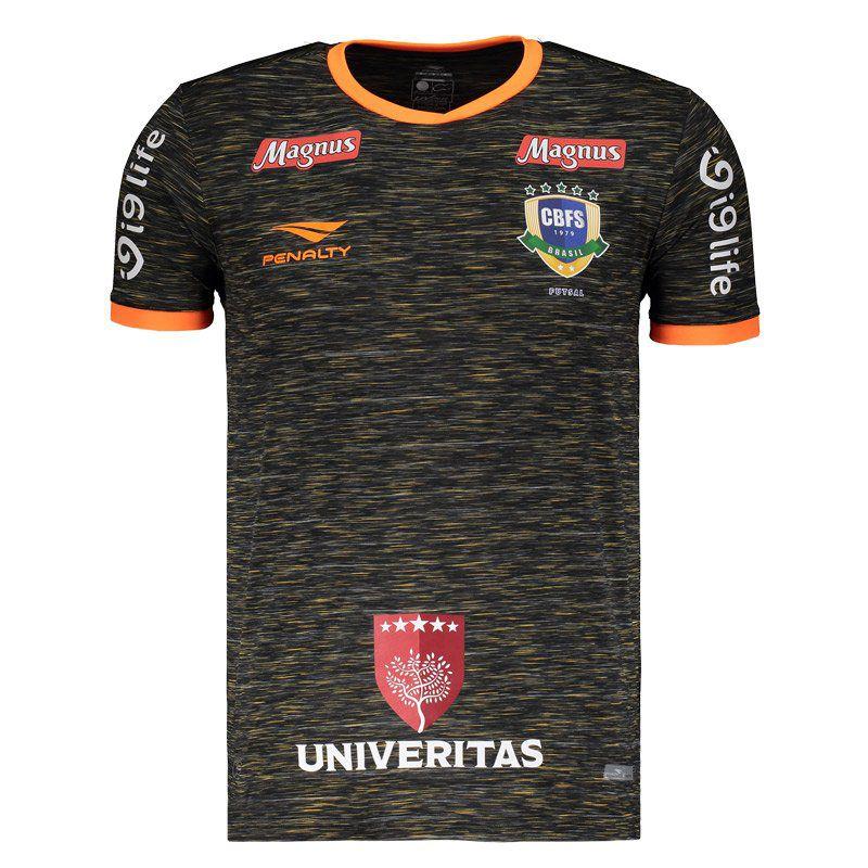 075d3ae26b1a6 Camisa Penalty Brasil CBFS Futsal Goleiro III 2018 - Penalty