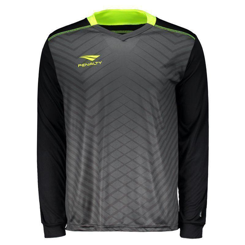 Camisa Penalty Goleiro Delta UV VII Manga Longa Cinza - Penalty a24c5dc1a46e9