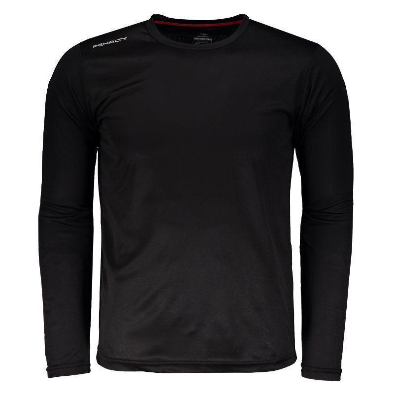 55adfa6196 Camisa Penalty Matís UV VII Manga Longa Preta - Penalty