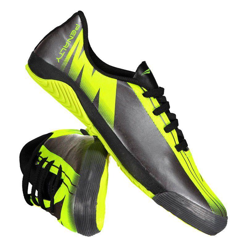 Chuteira Penalty Attom VIII Futsal Juvenil Amarela - Penalty 76b432515581a