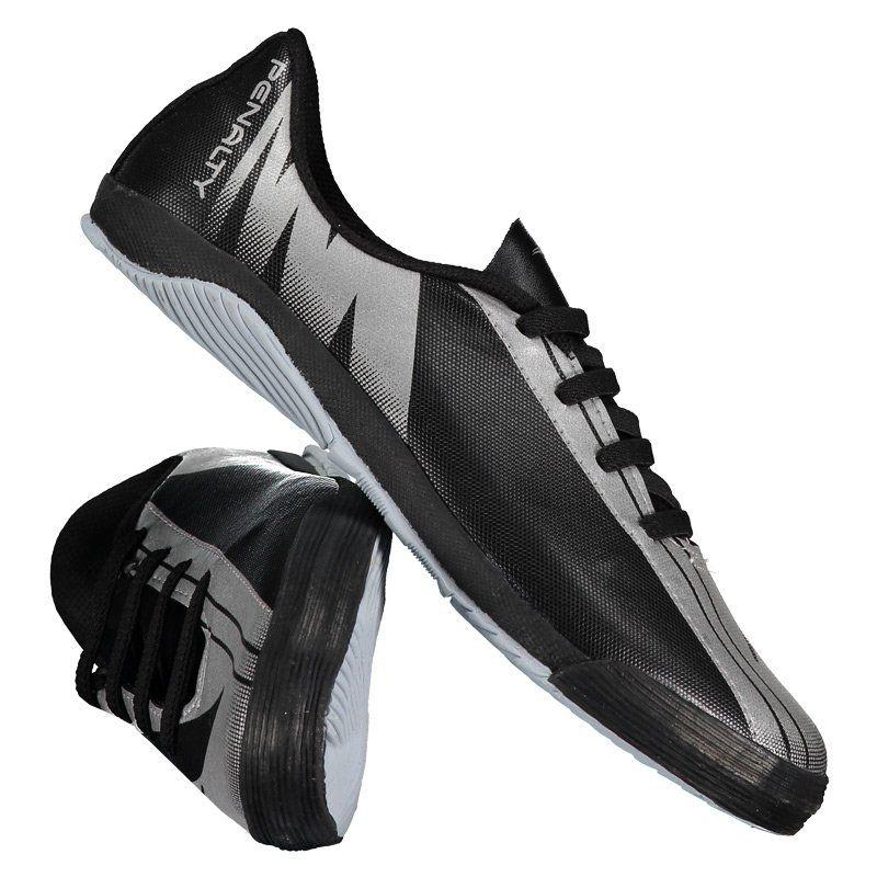 Chuteira Penalty Attom VIII Futsal Juvenil Prata - Penalty 96ba9346f1137