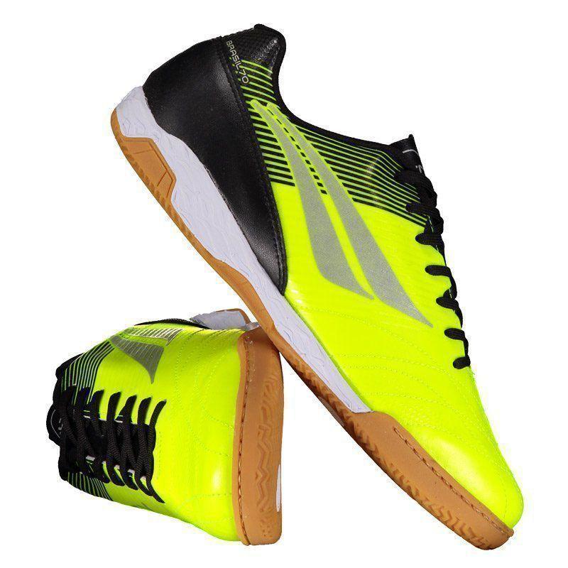 Chuteira Penalty Brasil 70 R2 VIII Futsal Amarela - Penalty 4ec58ea36f9a5