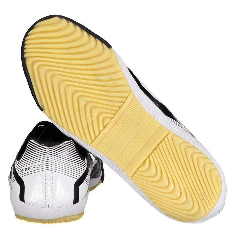Chuteira Penalty Brasil 70 VII Futsal Juvenil Preta - Penalty f129a98e0ce21