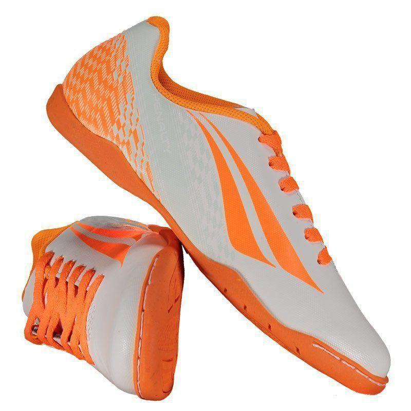 Chuteira Penalty K Soccer Storm VII Futsal Juvenil Branca - Penalty c1468d2498553