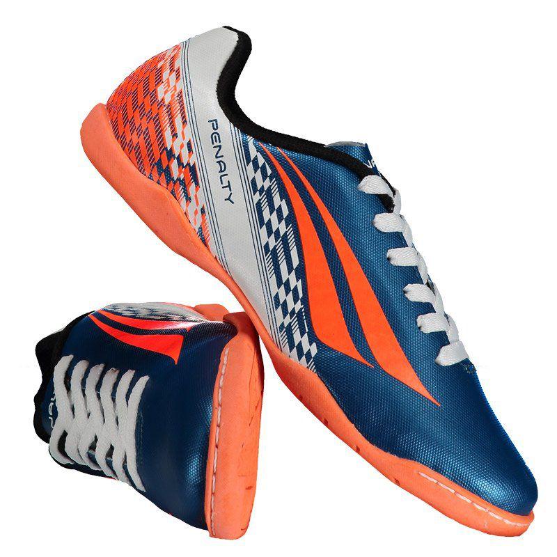 Chuteira Penalty K Soccer Storm VII Futsal Juvenil Azul - Penalty 2239fcaa5d4dd