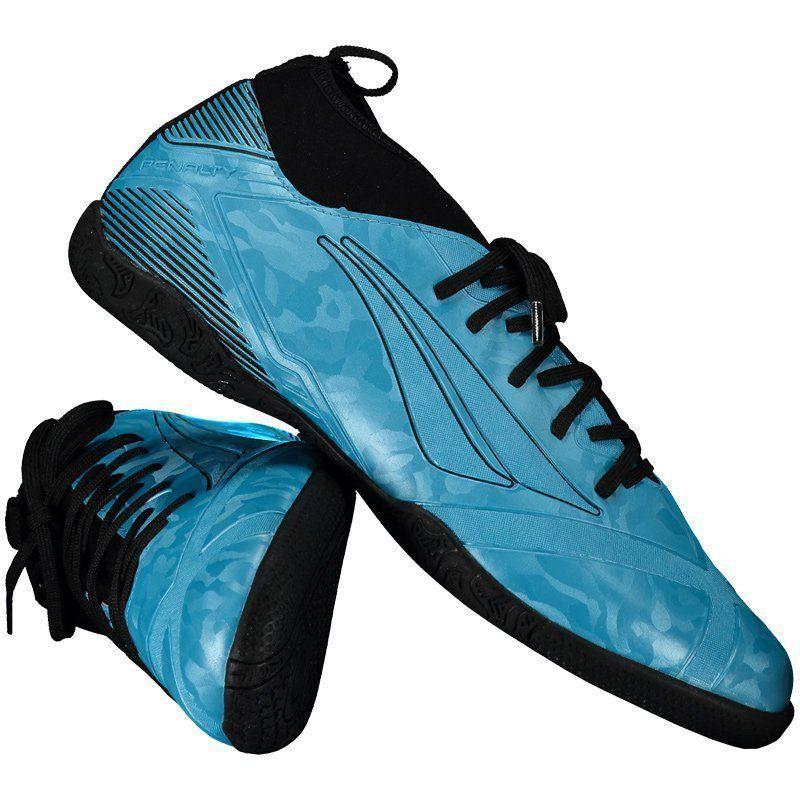 Chuteira Penalty RX Locker Stealth VIII Futsal Azul - Penalty 2b0687ea3f406