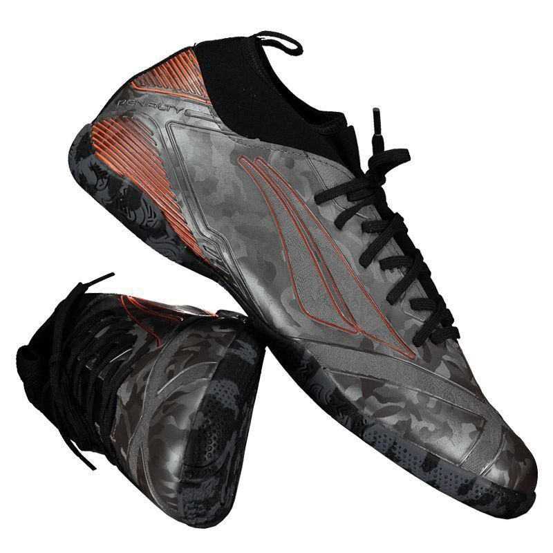 982a57c196 Chuteira Penalty RX Locker Stealth VIII Futsal Cinza - Penalty