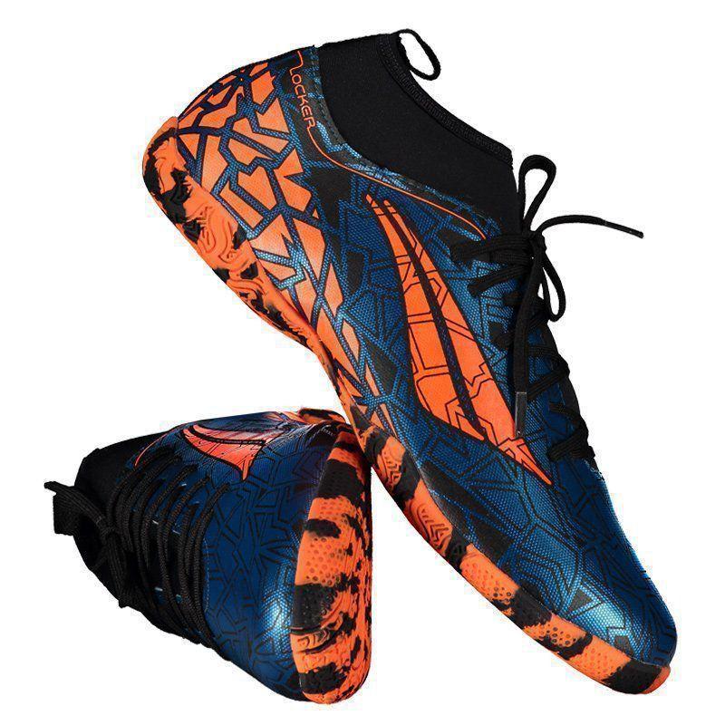 Chuteira Penalty RX Locker VII Futsal Azul e Laranja - Penalty d720a809c4d17