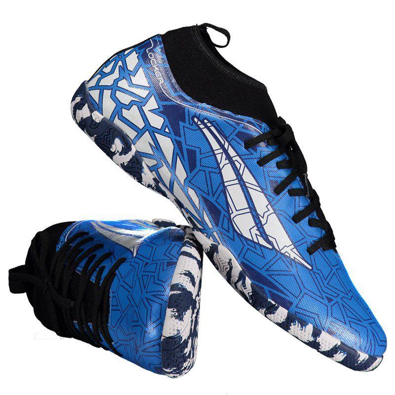 43b3e191a7 Chuteira Penalty RX Locker VII Futsal Azul e Branca - Penalty