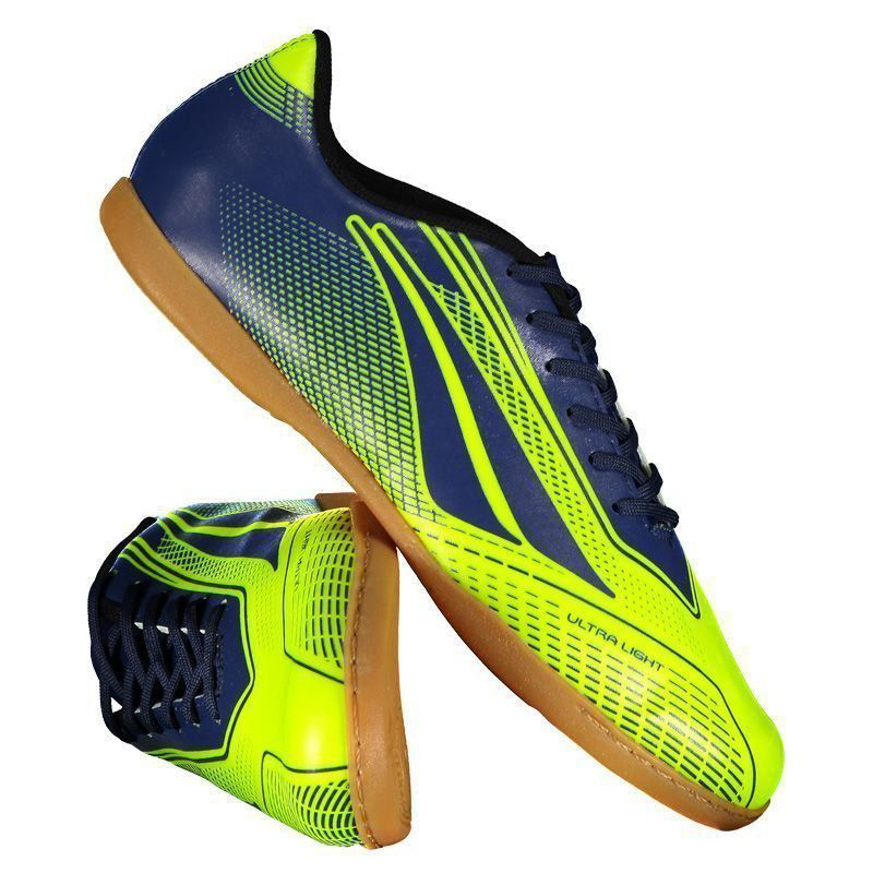 Chuteira Penalty Storm Speed VII Futsal Amarela - Penalty a292896dd290b