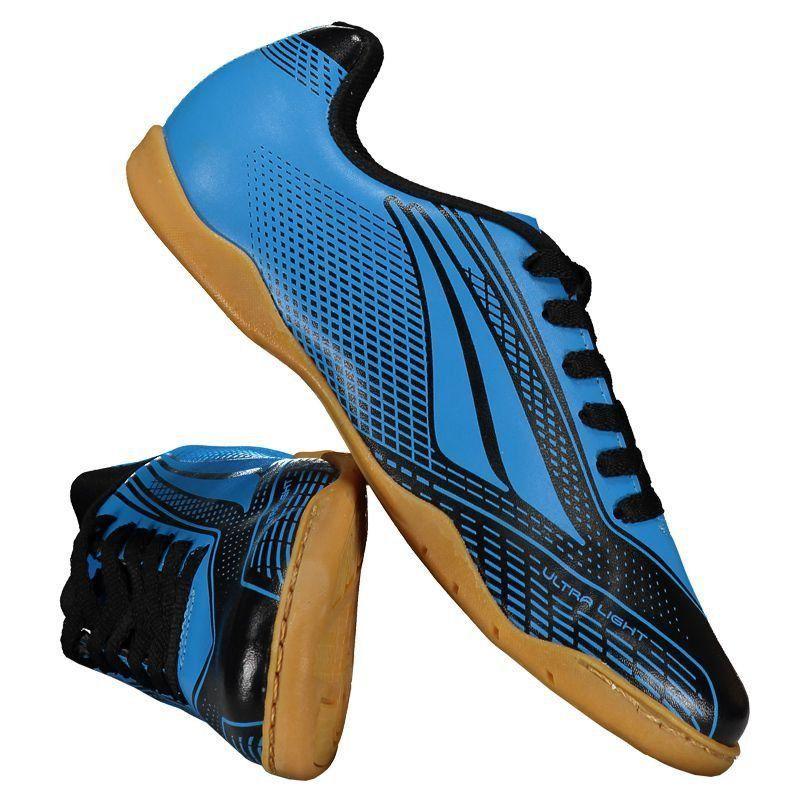 Chuteira Penalty Storm Speed VII Futsal Juvenil Azul - Penalty 1426cbb144495