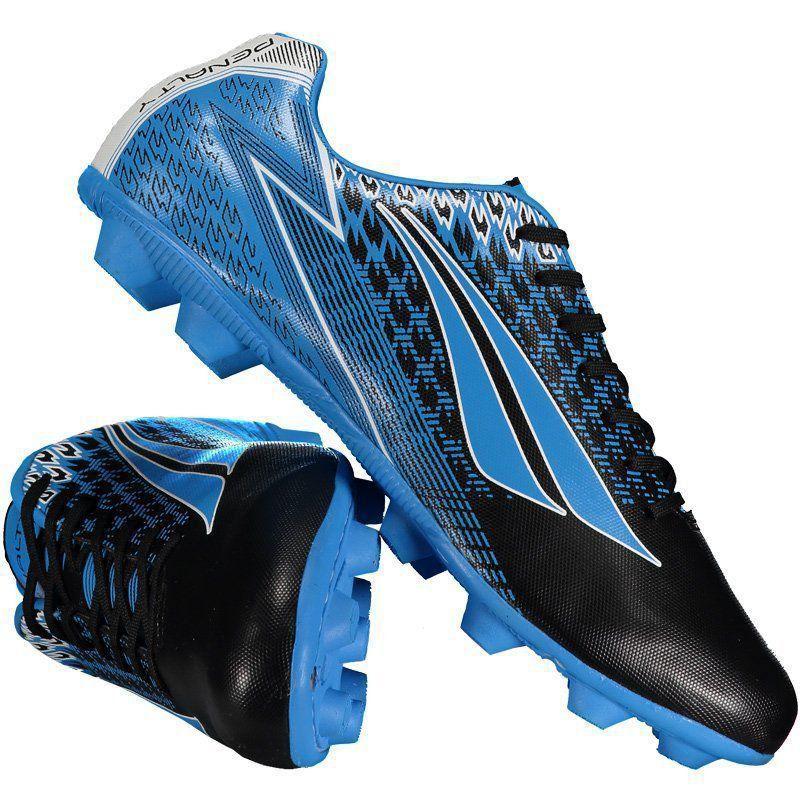 Chuteira Penalty Storm VIII Campo Azul Claro - Penalty fb5c9a1cc692c