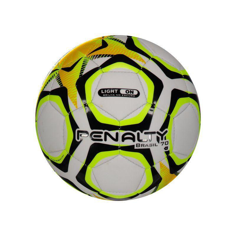 Mini Bola Penalty T50 Brasil 70 IX Branca e Laranja - Penalty 56fafa8962237