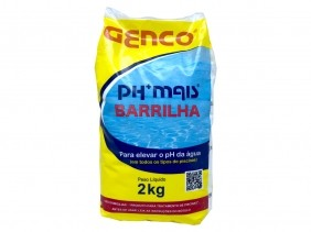 Barrilha Elevador de Ph Para Todos os Tipos de Piscinas Ph Mais Genco 2 kg
