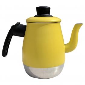 Bule Para Café Leite e Chá 2 Litros Em Alumínio Reforçado Com Tampa e Bico Longo