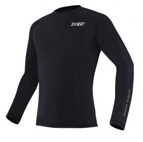 Camiseta Climate X11 Preta Segunda Pele Térmica Motoqueiro Motociclista Ciclista Natação Treino Corrida