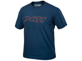 Camiseta X11 Underjacket Azul Gola Redonda Manga Curta Motociclista Ciclista