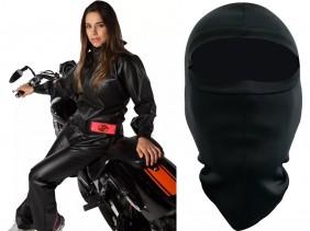 Capa de Chuva Feminina Alba Europa PVC Motociclista + Balaclava