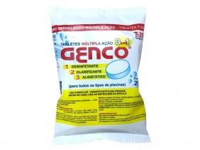 Cloro Para Piscina Tabletes Múltipla Ação 3 em 1 Genco 200g Desinfetante Clarificante Algistático