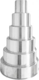 Conjunto de Assadeiras Redondas Formas Para Bolo em Alumínio Kit 6 Peças