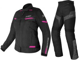 Jaqueta X11 Guard 2 Feminina Rosa + Calça Ultra 2 Feminina Motociclista