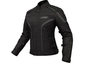 Jaqueta X11 Iron 2 Impermeável Nylon Feminina Preta Motociclista