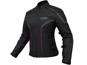 Jaqueta X11 Iron 2 Impermeável Nylon Feminina Rosa Motociclista
