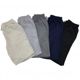 Kit 5 Bermudas de Moletom Masculina Com Elástico e Cordão Ajustável Shorts 5 Cores