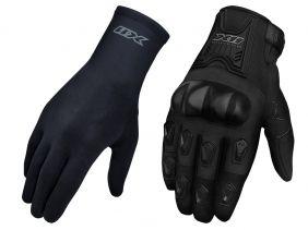 Kit Luva X11 Blackout Motociclista Com Proteções + Luva X11 Thermic Segunda Pele