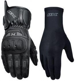 Kit Luva X11 Impact 2 Cano Curto + Luva X11 Thermic Segunda Pele Motociclista