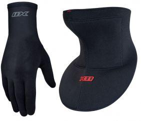 Kit Protetor De Pescoço Linha Pipa Cerol + Luva Thermic Motociclista
